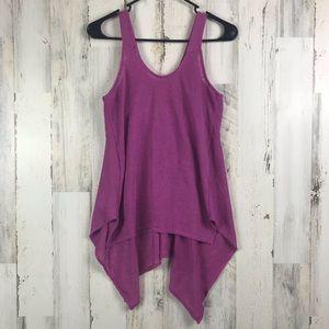 PrAna | Purple Fine Knit Tan Top Small